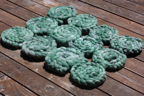 dozen braids of fiber